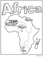 africa theme unit printables and worksheets
