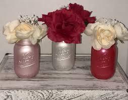 metallic mason jar vase valentine u0027s day decoration wedding