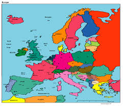 Map Of Europe Political by Europeans With