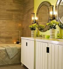lime green and brown bathroom decor house design ideas