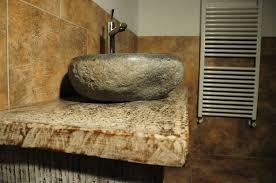 mobile bagno grezzo artigianato per la casa in legno pietra e ferro a osimo