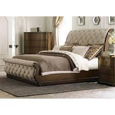monticello bedroom set monticello piece king sleigh bedroom set pecan value city and