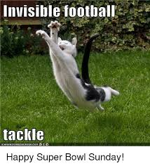 Super Bowl Sunday Meme - invisible football tackle happy super bowl sunday football meme