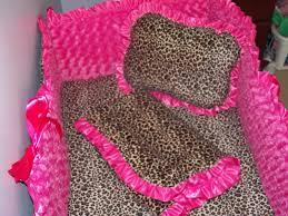 Pink Cheetah Crib Bedding Fairytale Designs Cheetah Minky Crib Bedding