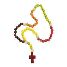 wooden rosaries wooden kiddie rosary the catholic company