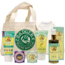 baby care gift tote organic baby gift set badger balm