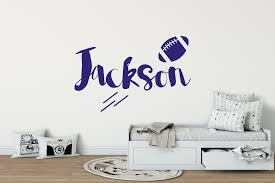 boys name american football wall sticker american football wall