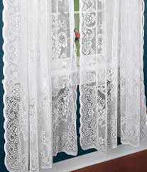 Lace Fabric For Curtains 363 American Balmore Lace Rod Pocket Panels Includes Panels And