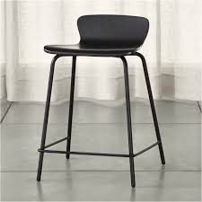 Cb2 Bar Stools Felix Black Counter Stool Crate And Barrel