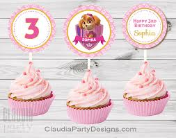 custom cupcake toppers paw patrol cupcake toppers paw patrol party