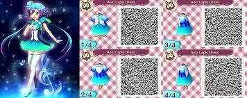 acnl aoki lapis dress qr code by acnl qr codez on deviantart