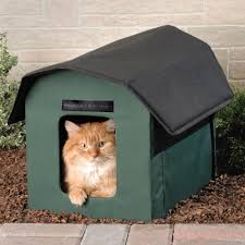 the only outdoor heated cat shelter hammacher schlemmer