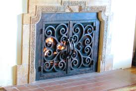 to install wrought iron fireplace screens u2014 home ideas collection