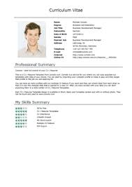 Sample Resume Fill Up Form by Free Cv Templates U2013 Normal Short U2013 Download U2013 Comoto