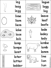 letter l alphabet activities at enchantedlearning com