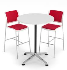 Bar Height Conference Table Bar Height Round Meeting Table White Table Top U0027adapt U0027
