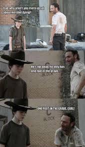 Carl Rick Meme - the walking dead 23 of the funniest rick carl dad jokes smosh