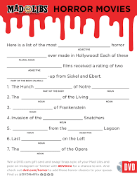 Printable Halloween Mad Libs by Halloween Mad Libs