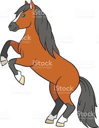 cartoon farm animals cute horse stock vector art 543201622 istock