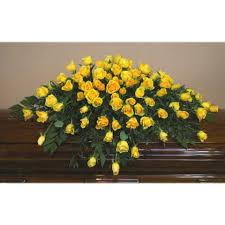 casket spray yellow casket spray cs0015 399 95 flowers portland