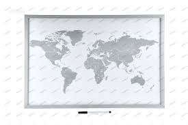 World Map Bulletin Board by Wall Maps Pinboard Magnetic Pinboards