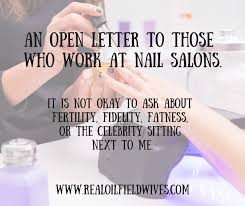 an open letter to those who work at nail salons