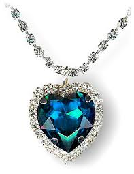 titanic blue heart necklace images Titanic heart of the ocean necklace swarovski crystal necklaces jpg