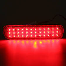 pair led brake tail light rear bumper reflector fog light for