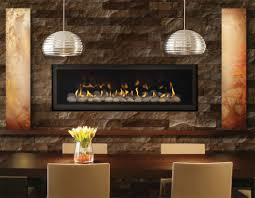transitional dining room design with napoleon gas fireplace insert