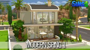 Home Building Ideas The Sims 4 House Building Modern Spring Speed Build Youtube