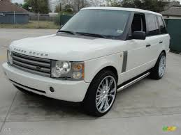 white land rover lr2 chawton white 2003 land rover range rover hse exterior photo