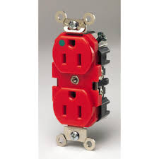 Heavy Duty 15 Amp 2 by Red Outlets U0026 Receptacles Dimmers Switches U0026 Outlets The