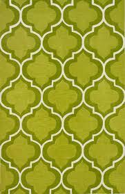 Loop Rugs Infinity Lime Poly Acrylic Plush And Loop Pile Rug Geometric