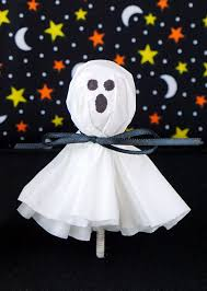 ghost face painting for halloween coffee filter ghost lollipops happiness is homemade