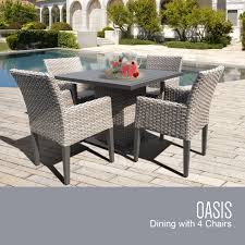 Dining Room Table Kits Tk Classics Oasis Square Dining Table With 4 Chairs