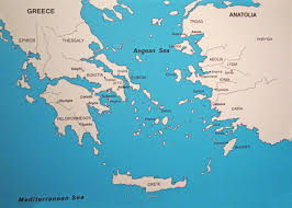 Greece World Map by