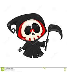 free halloween images on white background grim reaper cartoon character on a white background halloween