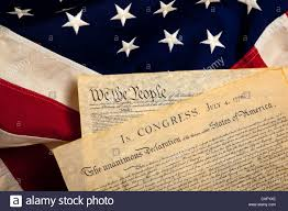 1876 American Flag The Constitution And Declaration Of Independence On An American