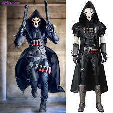 coslover reaper gabriel reyes cosplay ow game for men comics anime