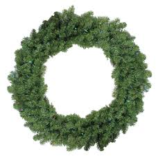 36 pre lit battery operated canadian pine wreath multi