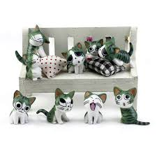 cheese cat miniature figurine garden ornaments