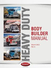 peterbilt body builder manuals peterbilt heavy duty body builder