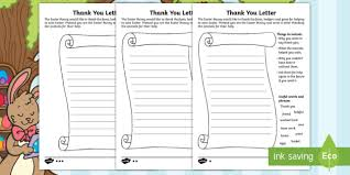 saving easter writing a thank you letter activity sheets