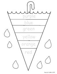 free kindergarten and pre k worksheet have them trace the color