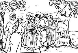 climb tree zacchaeus jesus coloring page wecoloringpage