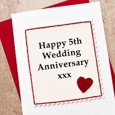 handmade 5th wedding anniversary card by arnott cards