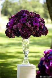 Fall Floral Decorations - 35 dark purple wedding color ideas for fall winter weddings deer
