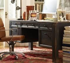Pottery Barn Desks Black Vintage Large Desk