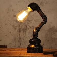 online get cheap table lamp fittings aliexpress com alibaba group retro industrial style steel pipe desk table lamp light fixture fitting bedroom study 220v china