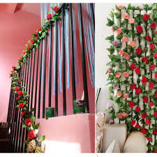 ivy home decor artificial rose garland flower vine ivy home decor wed direct